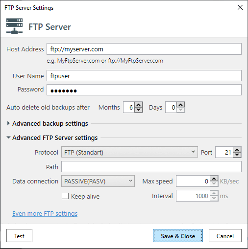 SQLBackupAndFTP screenshot