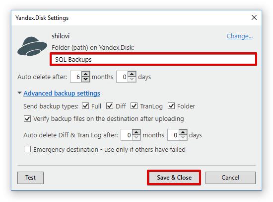 How to backup SQL Server to Yandex Disk | SQLBackupAndFTP's blog